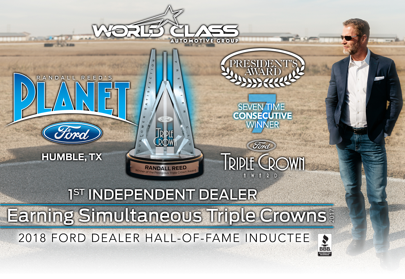 Planet Ford Humble Tx >> Awards And Honors Randall Reed S Planet Ford 59